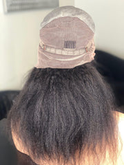 M.E.M Beauty Wigs Houston image of kinky hair full lace front wig back view