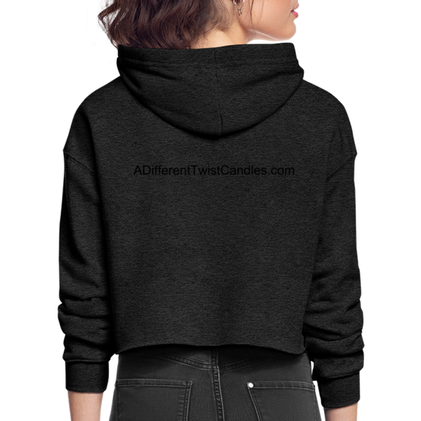 Twisted Women's Cropped Hoodie - deep heather