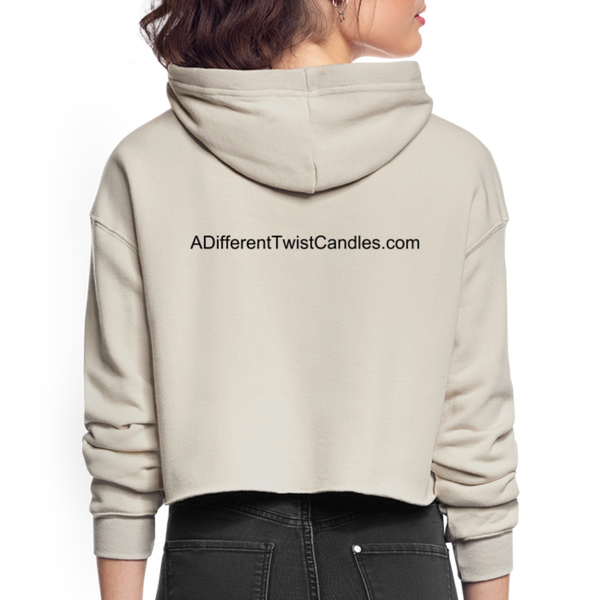 Twisted Women's Cropped Hoodie - dust