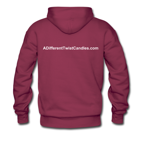 Twisted Men's Premium Hoodie - burgundy