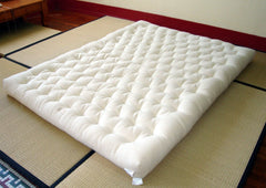 All wool USA made mattress derived from traditional Japanese futon design.