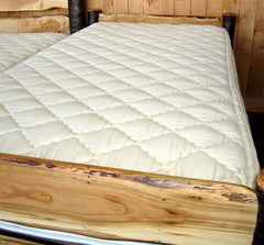 Twin Size Natural Mattress, Latex, 7 inch quilted organic cotton encasement