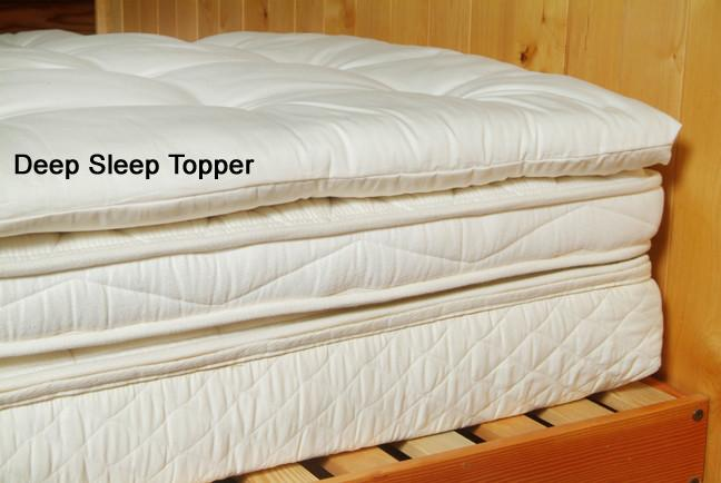 Organic Cotton & Wool Quilted Mattress Topper Soft