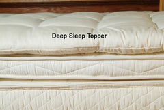 Quilted Wool Mattress Toppers- Clearance