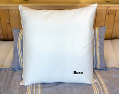 Euro size wool filled bed pillow