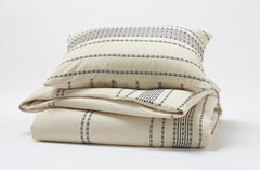 Organic cotton Rippled Stripe Shams are sold separately.