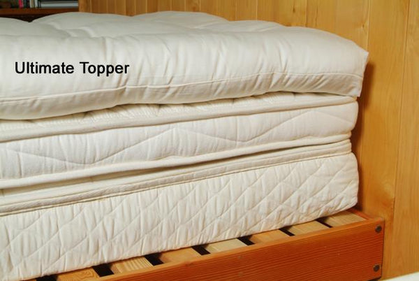 Organic Cotton Amp Wool Quilted Mattress Topper Soft
