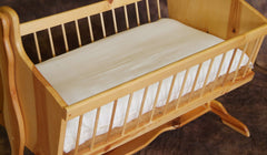 "This bassinet sheet is intended for use with our Bassinet Mattress measuring 18"" x 35"" x 2.5""."