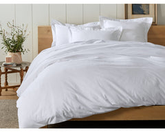 Cloud Brushed Organic Flannel Duvet Cover and Shams