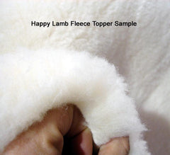 Cozy and soft Happy Lamb Fleece Wool Topper sample.