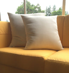 Our wool batting filled throw pillows add comfort to your sofa.