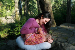 You can lay your baby while feeding on our Wool Filled Bo Peep pillow.