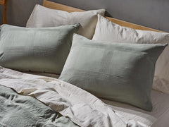 Indio Textured Grid Organic Duvet Cover & Sham
