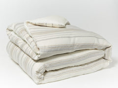 La Jolla Striped Organic Linen Duvet Cover