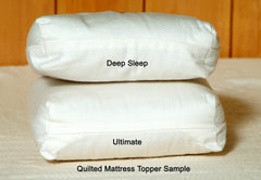 Choose between the Ultimate or Deep Sleep Premium Eco Wool Mattress Toppers.