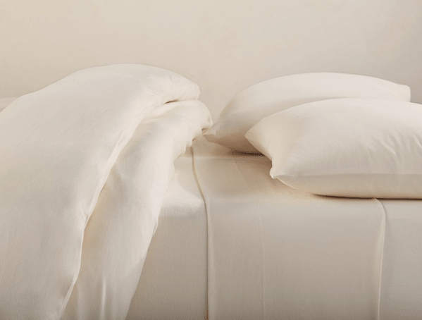 Organic Sheets  Jersey The Organic Cotton Jersey Sheet Set In Natural Is  Undyed.