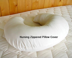 Our zippered pillow cover is available for our nursing pillow.