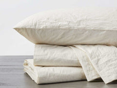 Organic Crinkled Percale Sheets