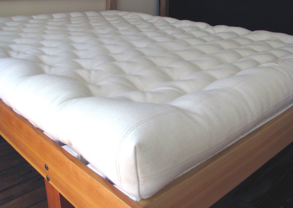 Handmade wool mattress, made in the USA.