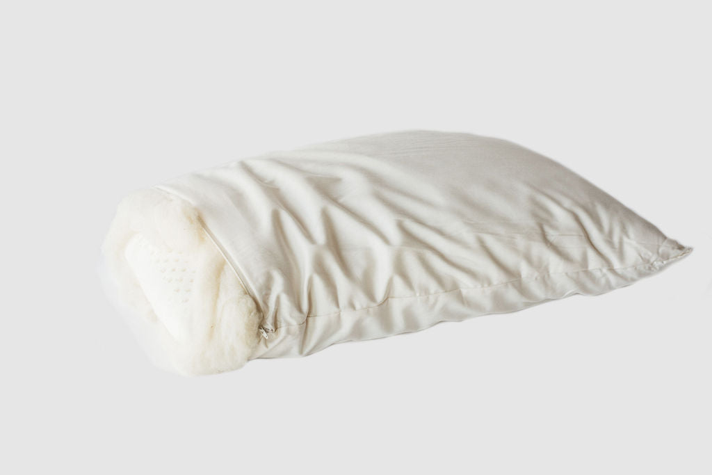 Wool-wrapped Latex Bed Pillow - Clearance
