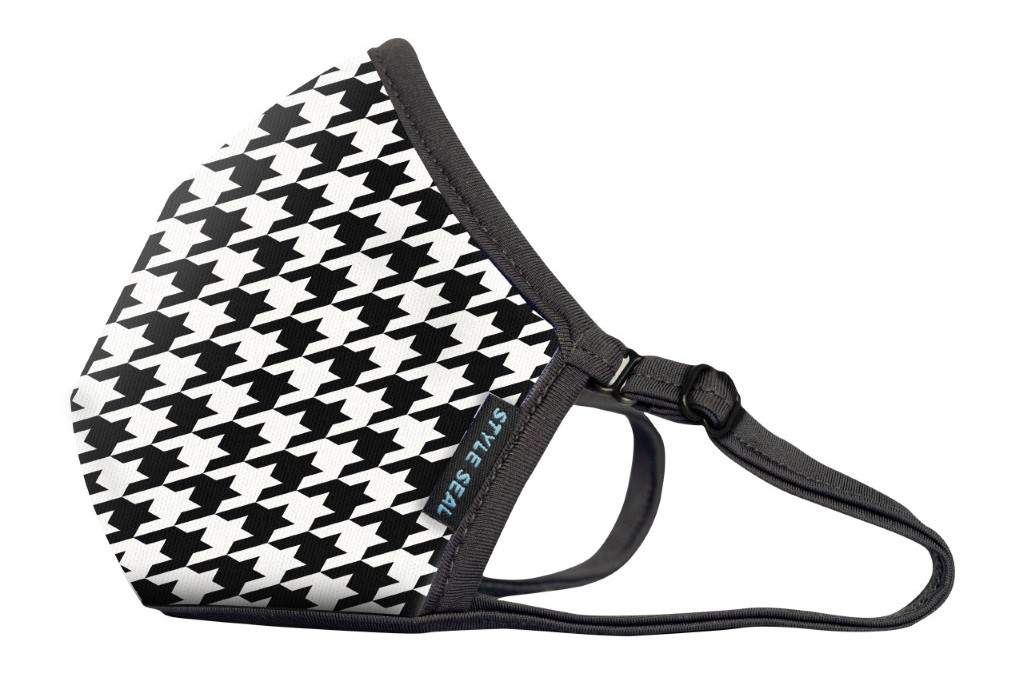 STYLESEAL Houndstooth Air Filter Face Mask - no valve