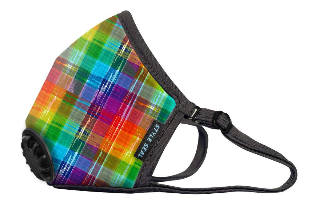 STYLESEAL Rainbow Plaid Air Filter Mask