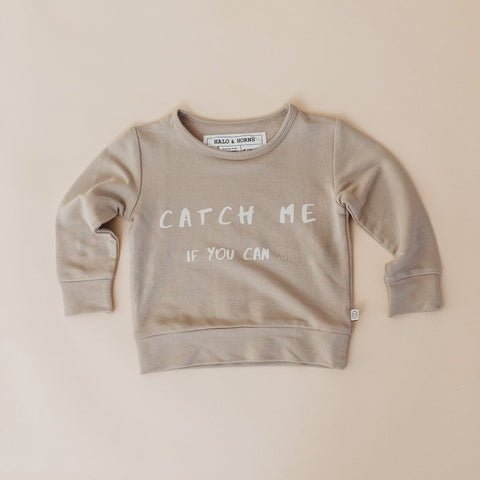Pullover - Bamboo Terry Wheat - Catch me if you can