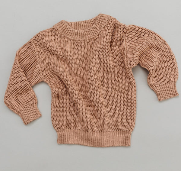 CHUNKY KNIT SWEATER - ORGANIC COTTON - SIROCCO