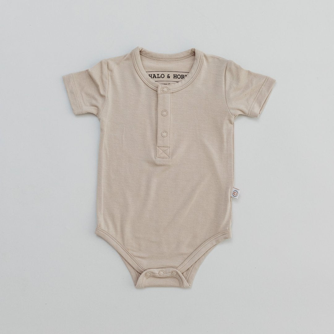 ONESIE - BAMBOO BASIC - FAWN