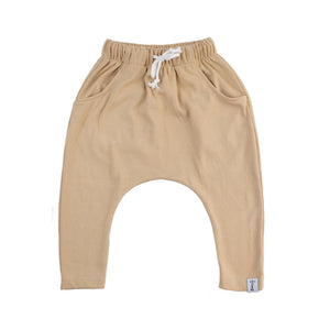 HAREM PANTS - WHEAT RIBBED