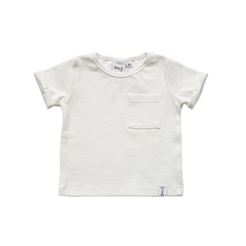 BOX RIBBED TEE - WHITE