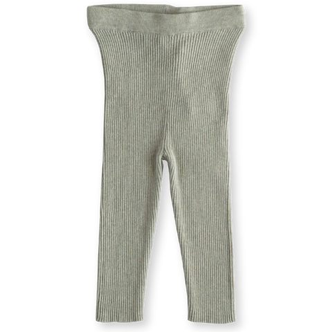 Ribbed Essential Leggings - Seagrass