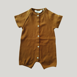 Snap Romper - ANTIQUE BRASS