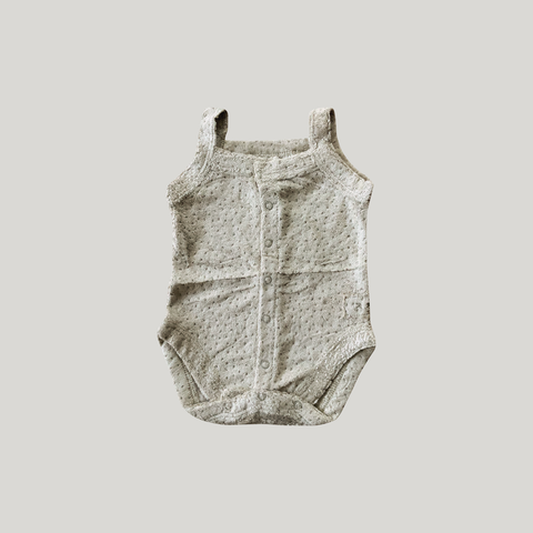 TEDDY TANK SUIT. ELM