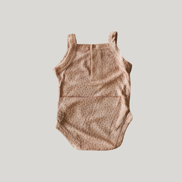 TEDDY TANK SUIT. TERRACOTTA