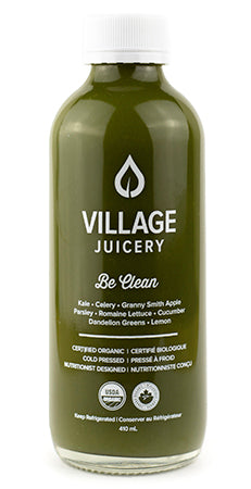 Be Clean - Kale, Celery, Granny Smith Apple, Parsley, Romaine Lettuce, Cucumber, Dandelion Greens, Lemon // 410ml