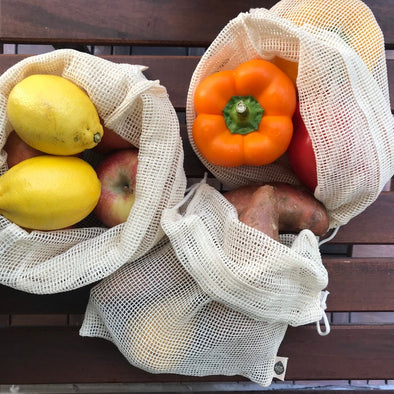 Set of 3 Zero Waste Produce Mesh Bags