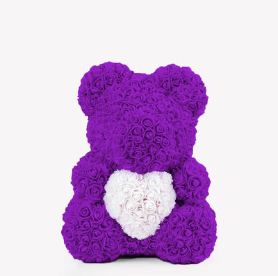 Violet Rose Bear With A Heart