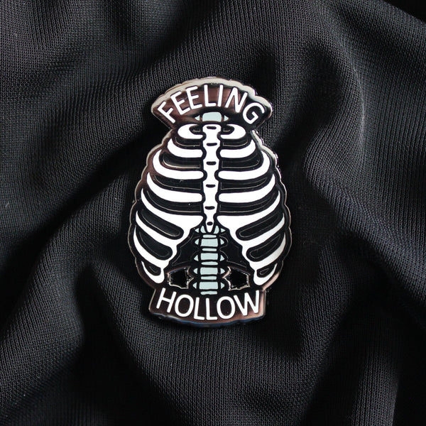 "2"" Hard Enamel Pin Feeling Hollow"