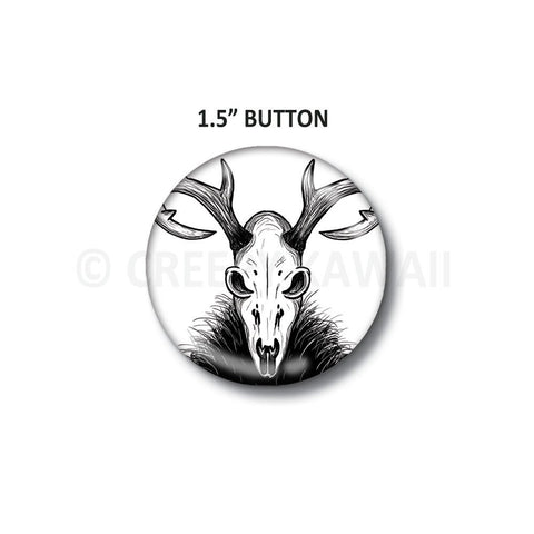 "Deer Skull - 1.5"" Button"