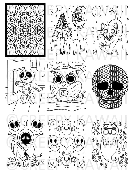 Creepy Kawaii 30 Page Coloring Book