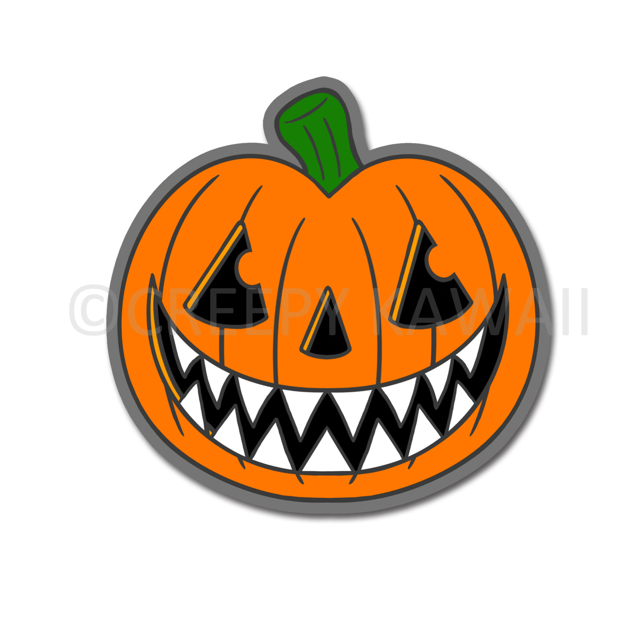 Pumpkin - 3 Inch Weatherproof Vinyl Sticker