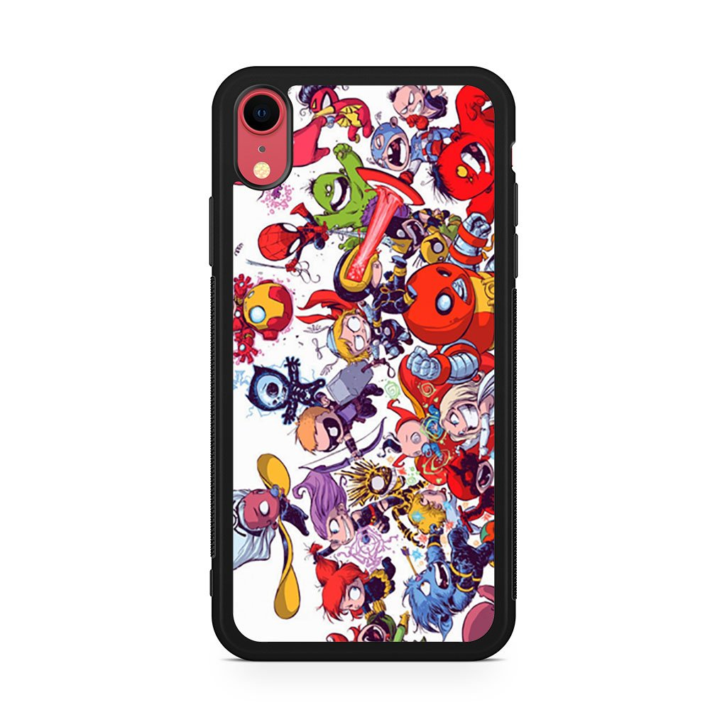 All Marvel Heroes iPhone XR Case