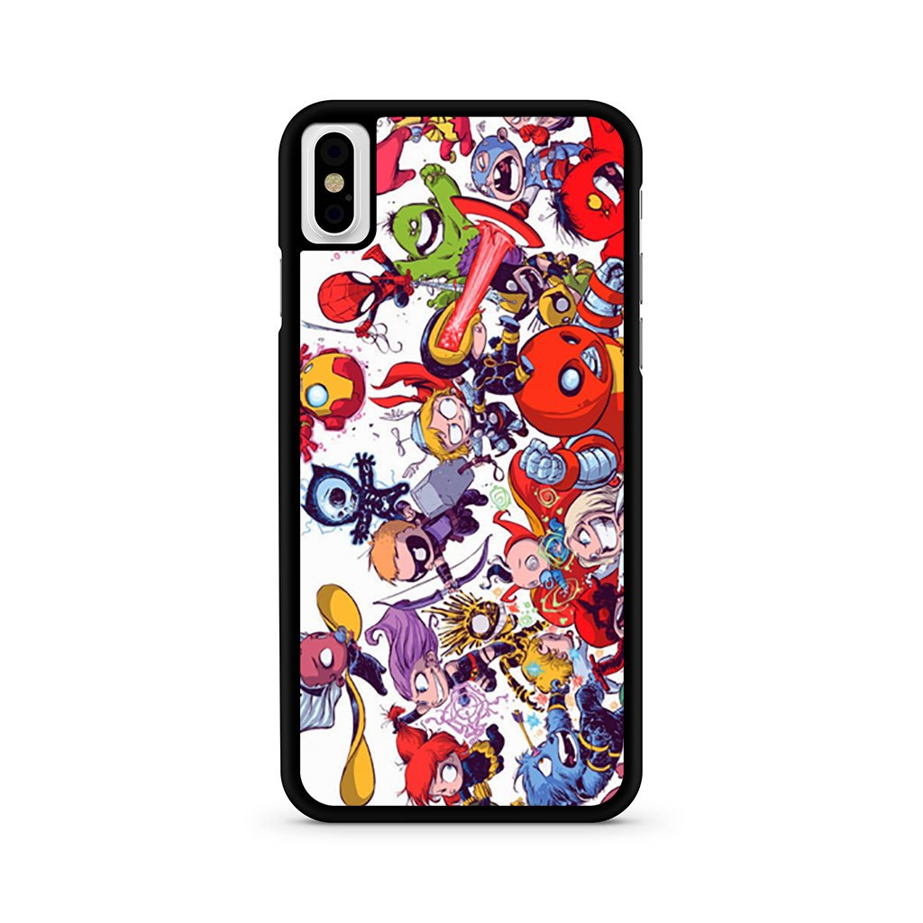 All Marvel Heroes iPhone XS Case