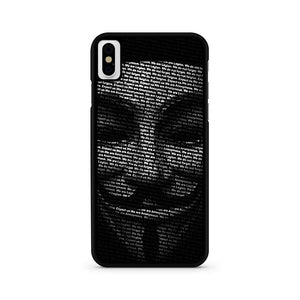 Annonymous iPhone X Case