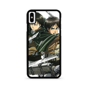Levi And Eren Attack On Titan iPhone X Case