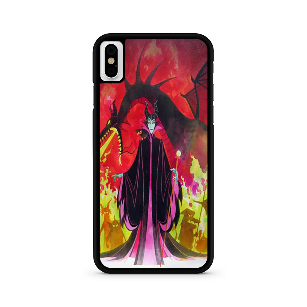 Maleficent and Dragon iPhone X Case
