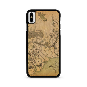 Middle Earth Map iPhone X Case