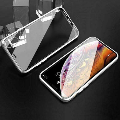 360 corpo pieno DAVANTI + VETRO POSTERIORE Magnetico Custodia Cover per  Apple iPhone XS MAX XR 8