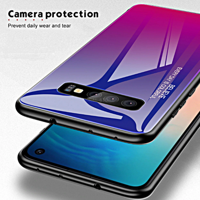 COVER per Samsung Galaxy S10 /S10e/S10 Plus Gradient Glass RETRO VETRO  TEMPERATO